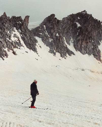 A July 19, 1984 photo showing Pope John Paul II skiing during a vacation in Pinzolo, northern Italy. Pope John Paul II was clinging to life in deteriorating condition, with his breath shallow and his kidneys not functioning properly after suffering heart trouble, the Vatican said Friday April 1, 2005.  <span class=meta>(&#40;AP Photo&#47;Osservatore Romano, Arturo Mari&#41; )</span>